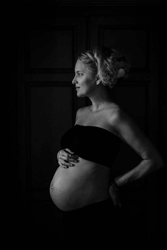 LaRae Lobdell maternity portrait selfie week #30, Miami FL, August 12th, 2016