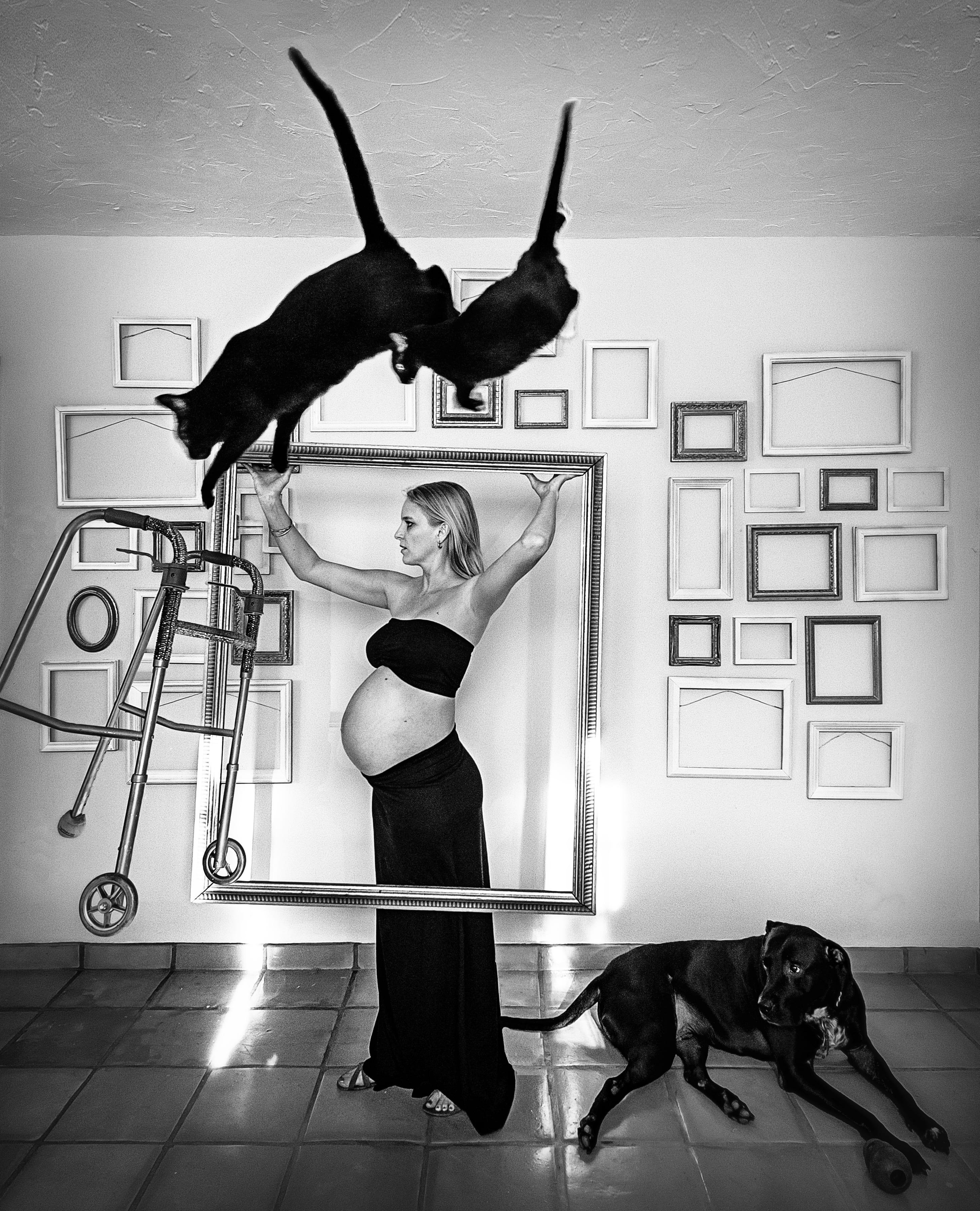 LaRae Lobdell maternity portrait selfie week #35, Miami FL, September 19th, 2016